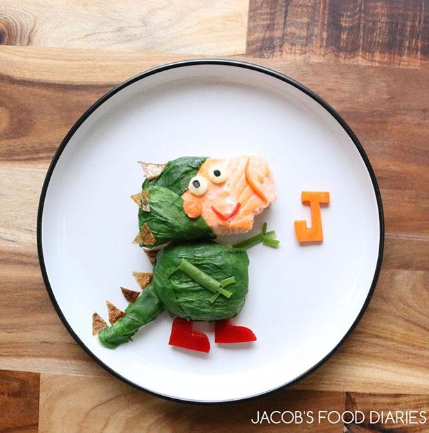 จัดจานอาหาร จอร์จ จาก Peppa Pig