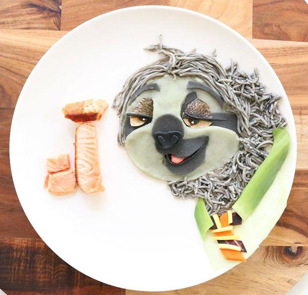 จัดจานอาหาร แฟลช จาก Zootopia