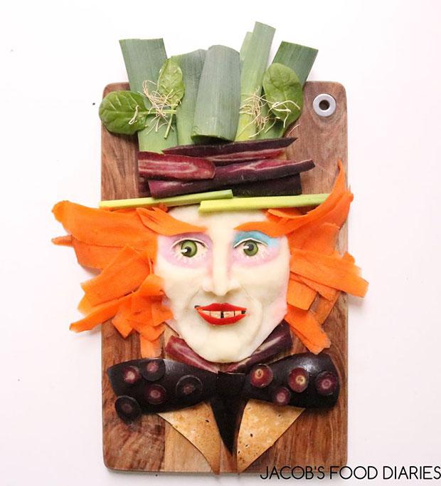 จัดจานอาหาร แม้ดแฮทเทอร์ จาก Alice Through The Looking Glass