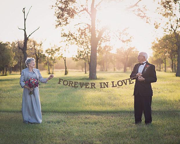รอ 70 ปีกว่าจะได้ถ่ายรูปแต่งงาน