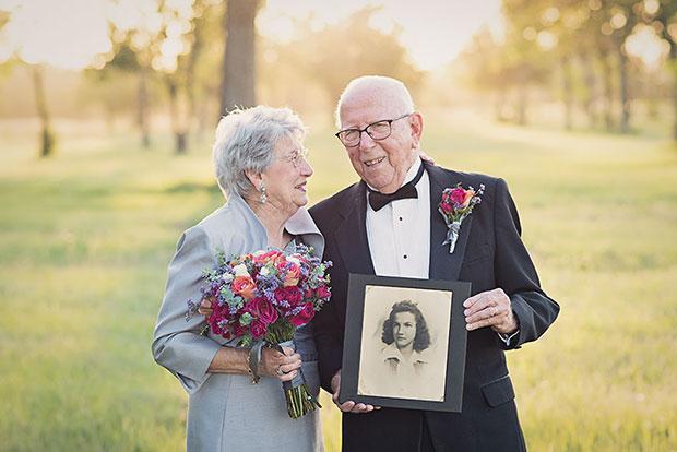 รอ 70 ปีถ่ายภาพแต่งงาน