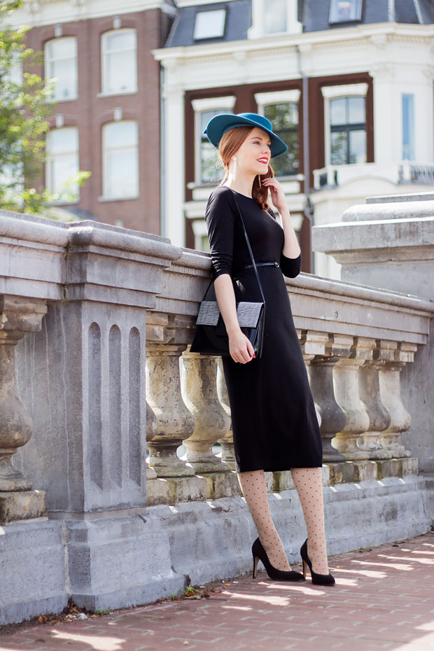 เดรส H&M, รองเท้า Sacha, กระเป๋า Vintage, หมวก Vintage, เข็มขัด H&M