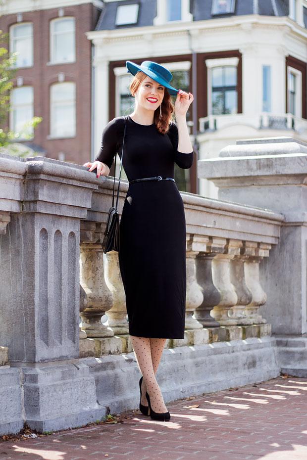 เดรส H&M, รองเท้า Sacha, กระเป๋า Vintage, เข็มขัด H&M, หมวก Vintage