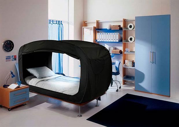 เตียงส่วนตัวที่เปลี่ยนเป็นป้อมปราการได้