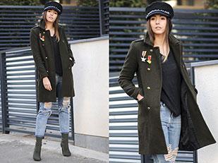 เสื้อโค้ท Choies, เสื้อยืด H&M, กระเป๋าเป้ C&A, รองเท้าบู๊ท Choies, กางเกงยีนส์ Shopbop