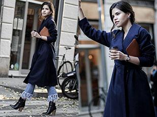 เสื้อโค้ท Shein, เสื้อ Le Labo, รองเท้าบู๊ท Windsor, กางเกงยีนส์ Glamorous, นาฬิกา Cluse