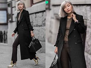 เสื้อโค้ท Uniqlo, เสื้อยืด Isabel Marant, รองเท้าบู๊ท Asos, กางเกง Uniqlo, กระเป๋า Givenchy