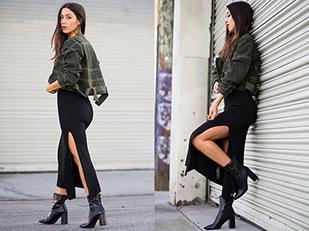 แจ็คเก็ต Asos, กระโปรง Zara, เสื้อ Asos, รองเท้าบู๊ท Public Desire