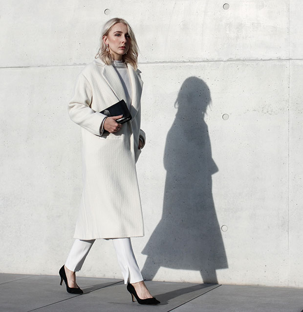 Lala Berlin Coat, Lala Berlin Turtleneck, Lala Berlin Trousers, & Other Stories Clutch