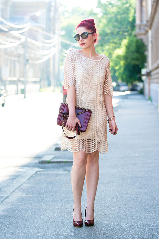 OASAP Dress, Shein Shoes, Choies Bag, Dior Sunglasses, Michael Kors Watch