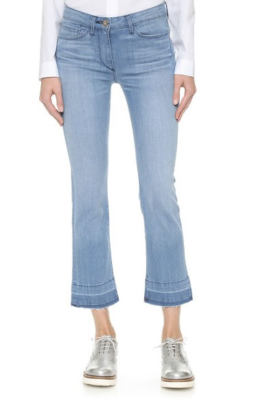 กางเกงยีนส์ทรงครอปเบบี้บูทคัท ของ 3x1 W2.5