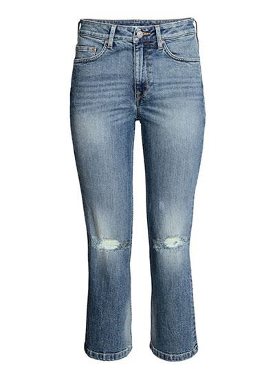 กางเกงยีนส์หุ้มข้อทรงกระบอก ของ H&M