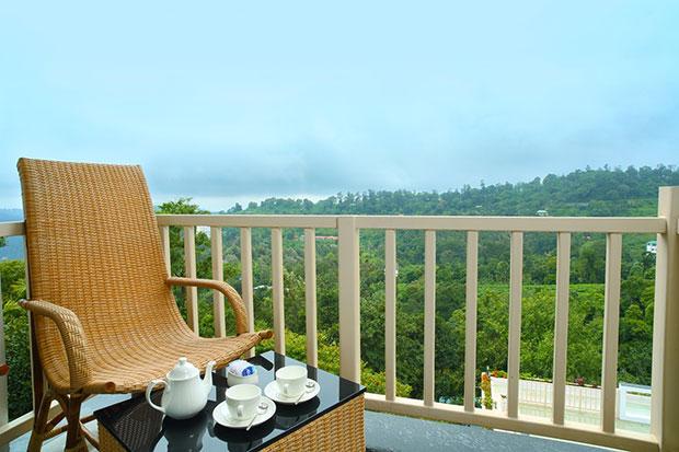 สถานที่นั่งจิบชาแบบไฮที Munnar