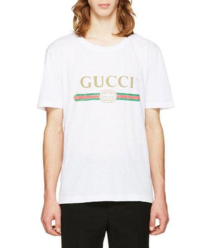 เสื้อยืดโลโก้ Gucci