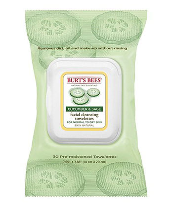 Cucumber & Sage Facial Cleansing Towelettes ของ Burt's Bees