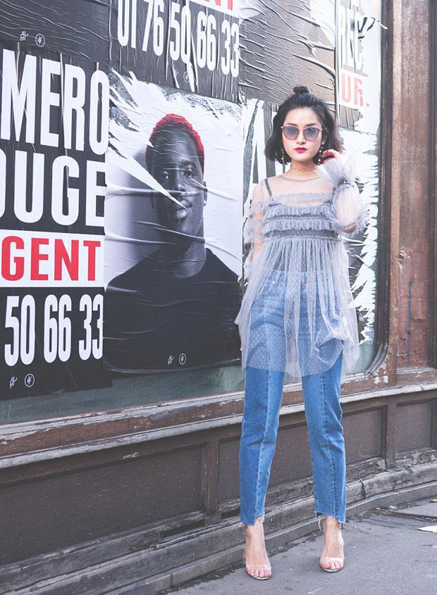 Glamorous Dress, H&M Jeans, Boohoo Sandals, Jimmy Choo Sunglasses, H&M Choker