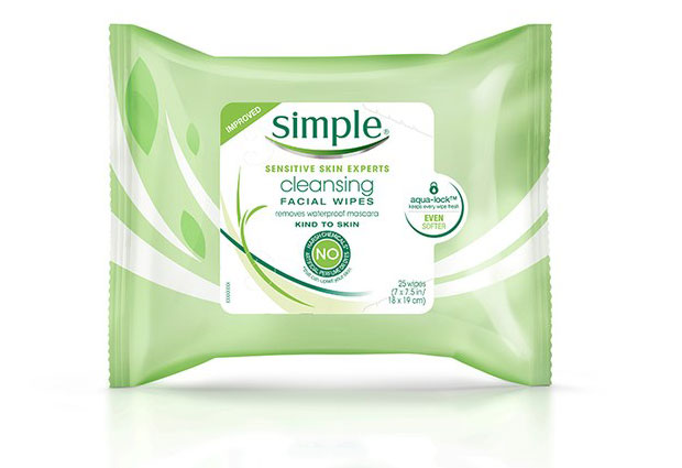 Improved Cleansing Facial Wipes ของ Simple