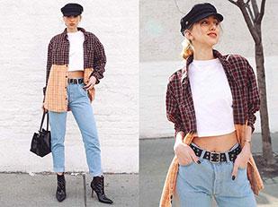 กางเกงยีนส์ Levi's, เสื้อ Urban Outfitters, รองเท้าบู๊ท Manolo Blahnik
