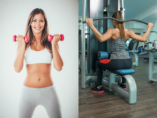 การออกกำลังกายแบบใช้อุปกรณ์อิสระกับเครื่องออกกำลังกาย