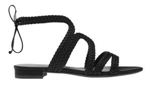รองเท้ารัดคอสีดำ Charles & Keith