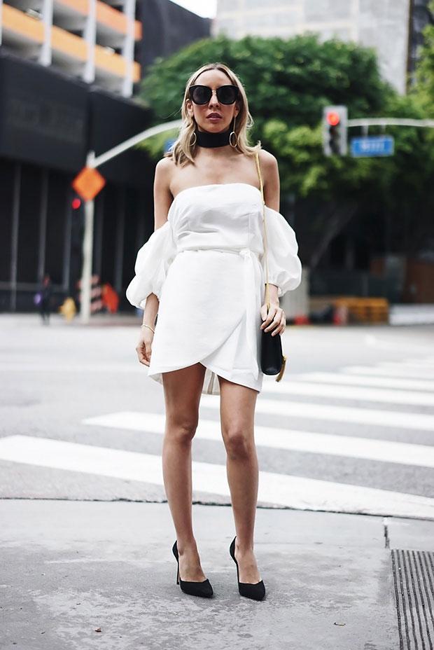 เดรส Haute & Rebellious, รองเท้า Zara, แว่นตากันแดด Haute & Rebellious, กระเป๋า YSL