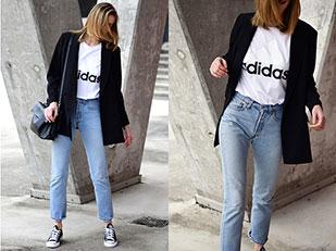 เสื้อสูท H&M, เสื้อยืด Adidas, รองเท้า Converse, กางเกงยีนส์ Levi's, นาฬิกา Daniel Wellington