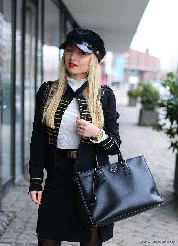 เสื้อสูท Shein, สเว็ตเตอร์ Primark, กระโปรง Missguided, รองเท้า Milanoo, กระเป๋า Prada
