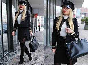 เสื้อสูท Shein, สเว็ตเตอร์ Primark, รองเท้า Milanoo, กระโปรง Missguided, กระเป๋า Prada