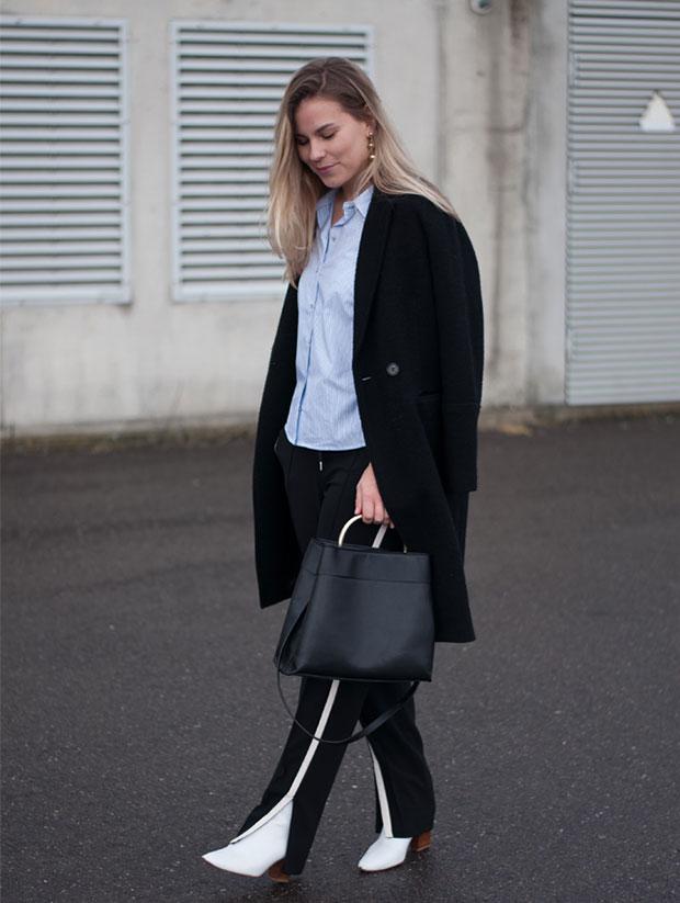 เสื้อเชิ้ต Only, กางเกง Vanilia, รองเท้าบู๊ท Zara, กระเป๋า Mango