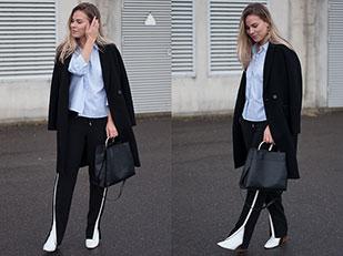 เสื้อเชิ้ต Only, รองเท้าบู๊ท Zara, กางเกง Vanilia, กระเป๋า Mango