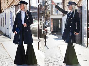 เสื้อโค้ท Fashionmia, กางเกง Lookovetzki, เสื้อเชิ้ต Passer, หมวก Zaful