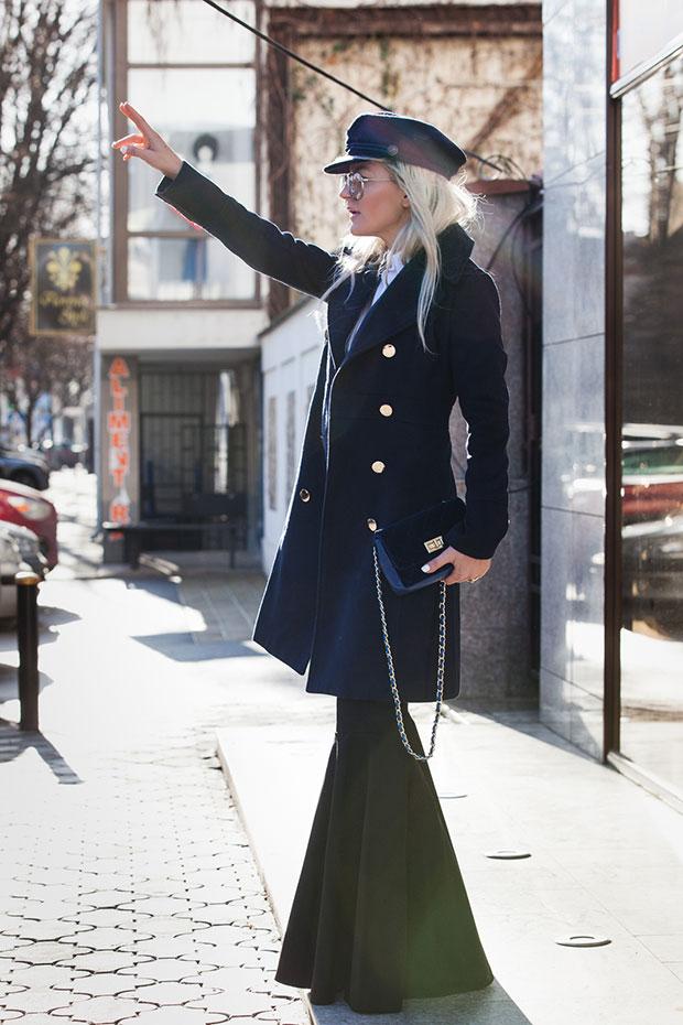 เสื้อโค้ท Fashionmia, เสื้อเชิ้ต Passer, กางเกง Lookovetzki, หมวก Zaful