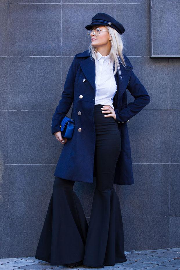 เสื้อโค้ท Fashionmia, เสื้อเชิ้ต Passer, หมวก Zaful, กางเกง Lookovetzki