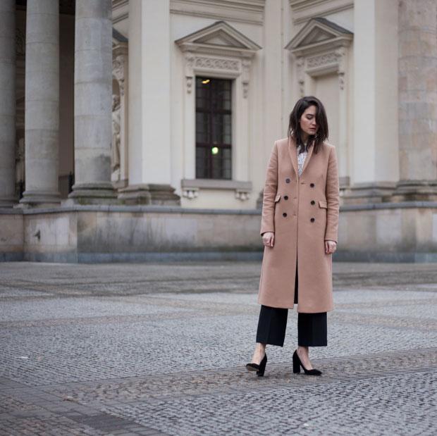 เสื้อโค้ท Ivy&Oak, เสื้อ Ivy&Oak, กางเกง Zara, รองเท้า Zign
