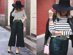 เสื้อ Zara, กางเกง Bershka, กระเป๋า Louis Vuitton, รองเท้า Chanel, เข็มขัด Moschino