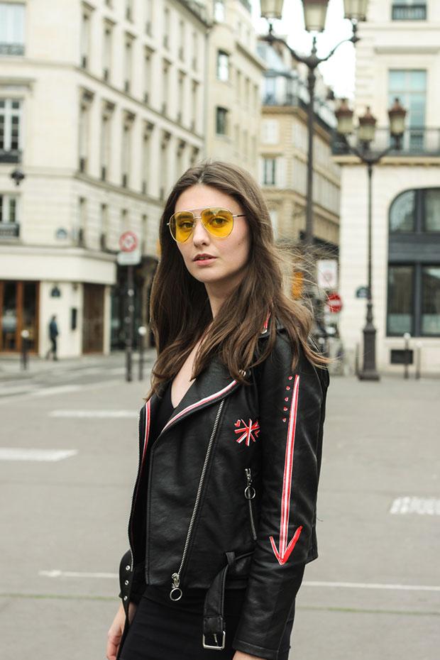 แจ็คเก็ตหนัง Zara, แว่นตากันแดด Asos