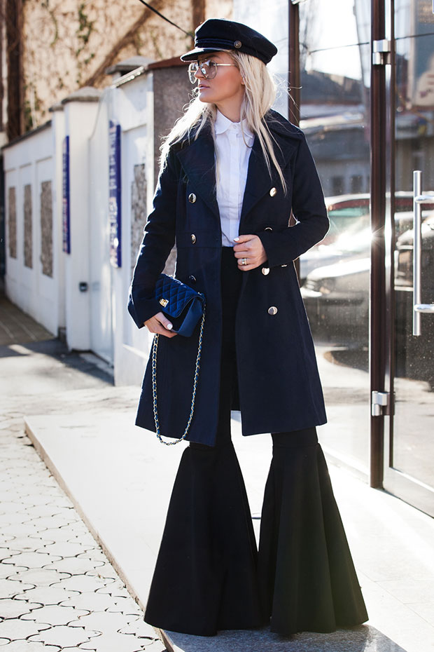 Fashionmia Coat, Passer Shirt, Lookovetzki Pants, Zaful Beret