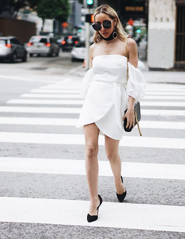 Haute & Rebellious Dress, Zara Shoes, YSL Bag, Haute & Rebellious Sunglasses
