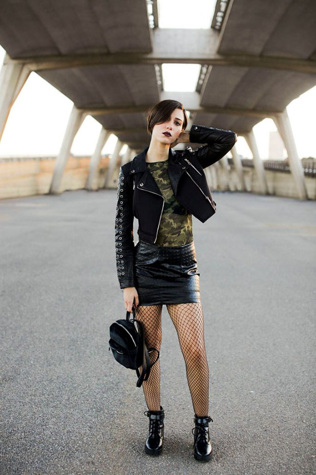 Oh My Style Jacket, Stradivarius Top, Oh My Style Skirt, Bershka Boots, Stradivarius Bag