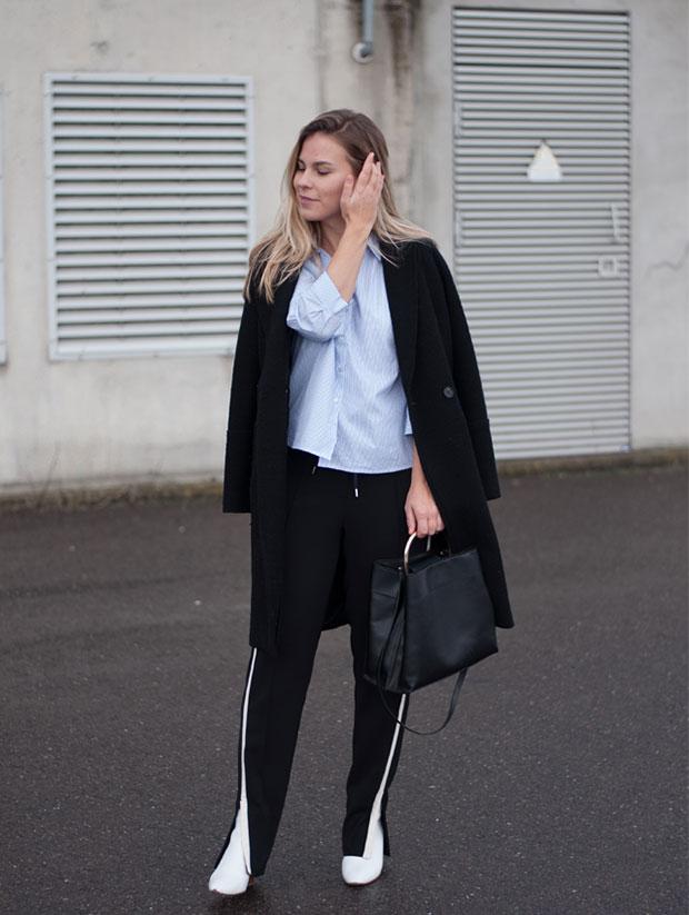 Only Shirt, Vanilia Trousers, Zara Boots, Mango Bag