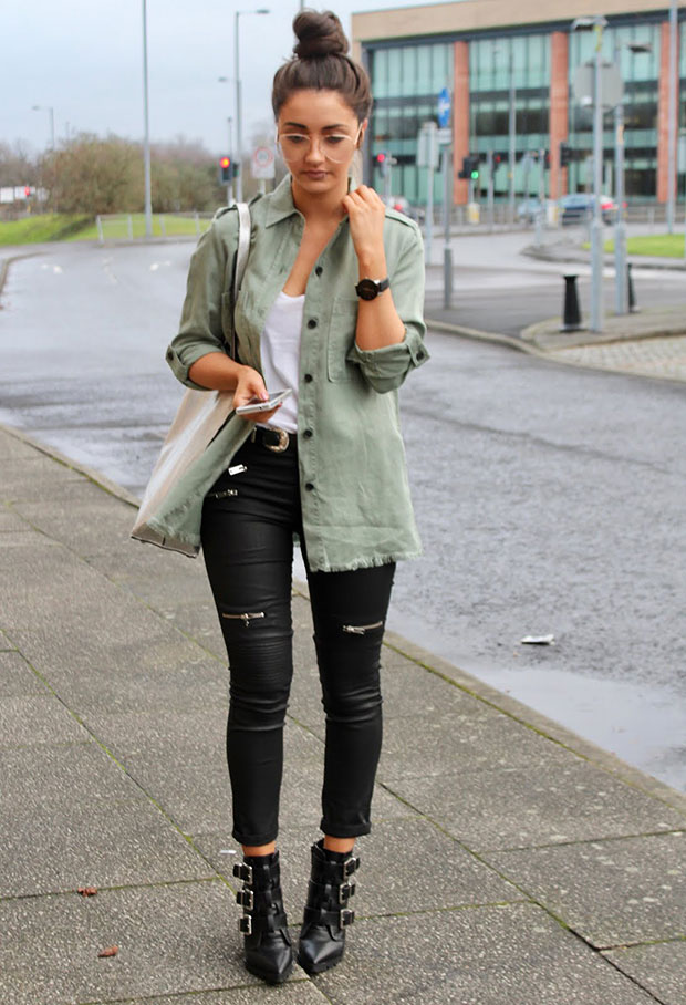 Zara Shirt, Mango Top, Mango Trousers, Asos Boots, Primark Bag, Asos Glasses
