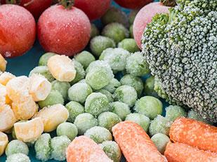 ผักและผลไม้แช่แข็ง