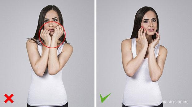 เคล็ดลับในการโพสท่า อย่าซ่อนใบหน้าไว้หลังมือ