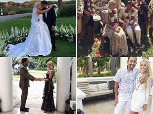 เจ้าสาวแสนสวยกับ 9 ชุดในพิธีแต่งงานสไตล์อินเดีย อเมริกัน