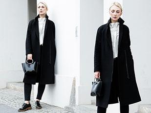 เสื้อโค้ท Cos, เสื้อ Cos, กางเกงยีนส์ Lee, กระเป๋า Kozha Numbers, รองเท้า Zara, ต่างหู Madeleine