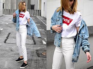 แจ็คเก็ต Levi's, กางเกงยีนส์ Asos, เสื้อ Levi's, รองเท้า Vans Atwood Deluxe
