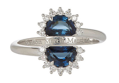 แหวนหมั้นแซฟไฟร์แบบ เคท มิดเดิลตัน