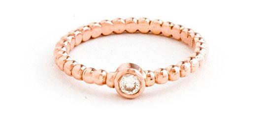 แหวนหมั้นโรสโกลด์แบบ ลอเรน คอนราด