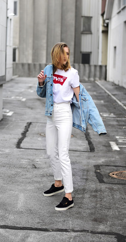 Levi's Jacket, Levi's Shirt, Asos Jeans, Vans Atwood Deluxe Sneakers