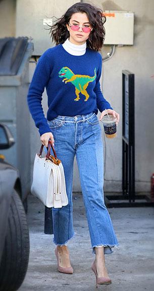 Selena Gomez รองเท้า Kurt Geiger